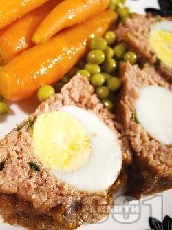 КЛОПС - месно телешко руло с варени яйца на фурна - снимка на рецептата